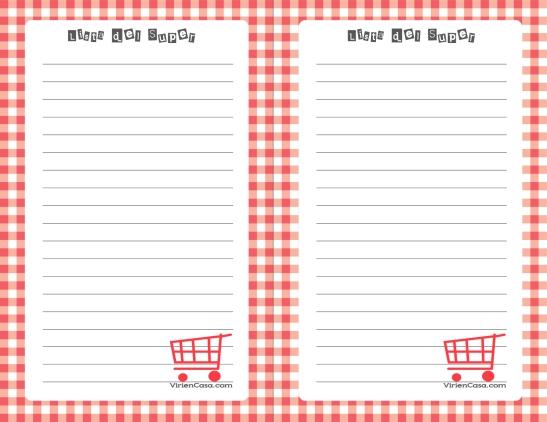 lista del supermercado para descargar gratis free printable